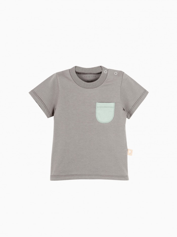 short sleeved t-shirt with pocket · grey