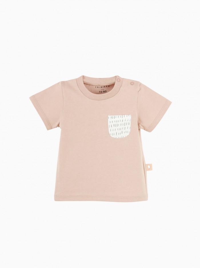 camiseta manga corta con bolsillo · rosa misty