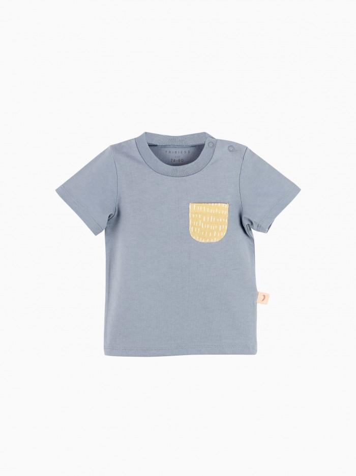 camiseta manga corta con bolsillo · denim