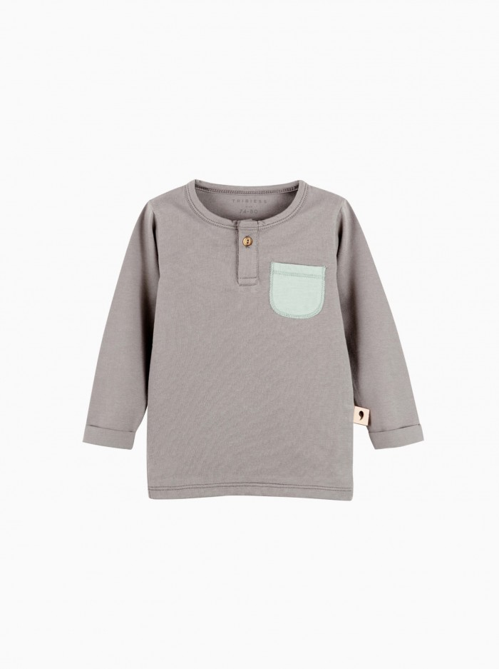 shirt with buttons · grey