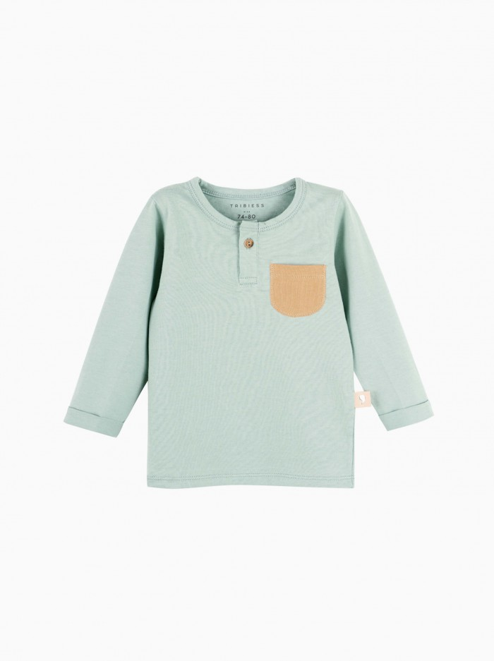 shirt with buttons · green surf