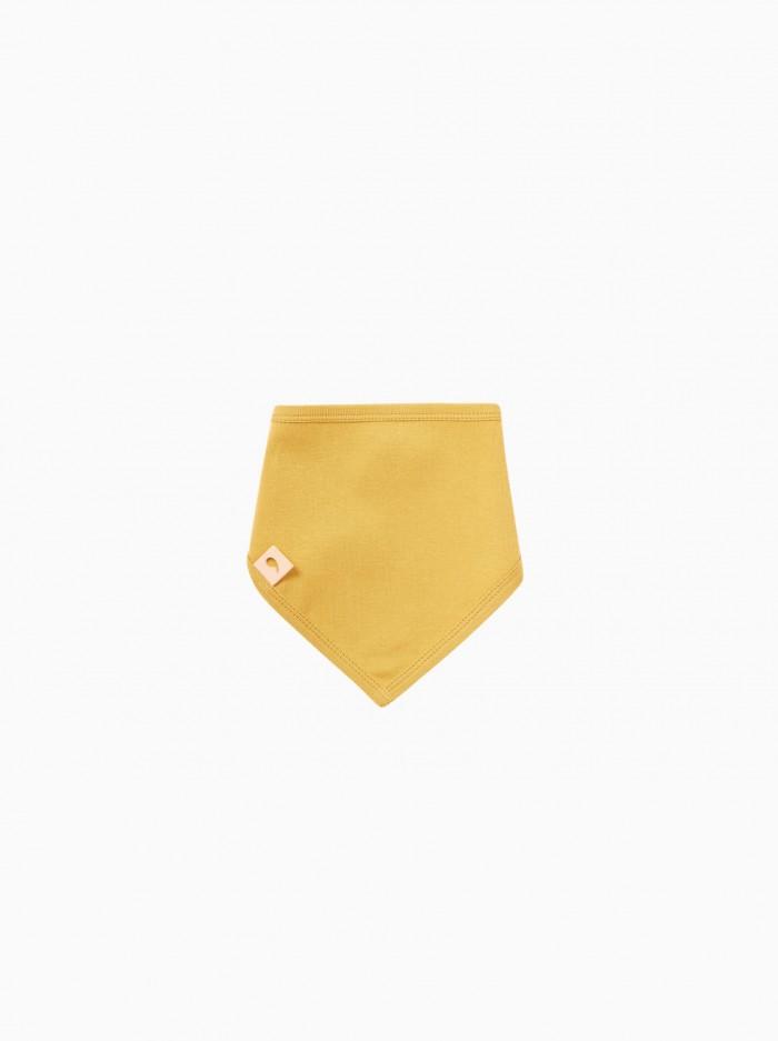 bandana bib · mustard