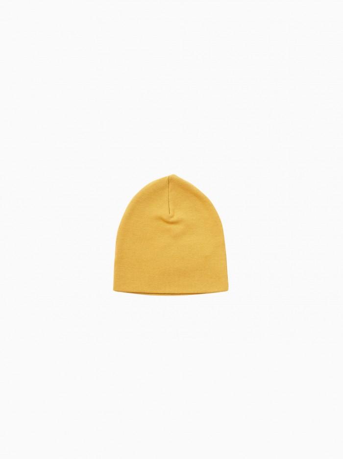 newborn hat · mustard