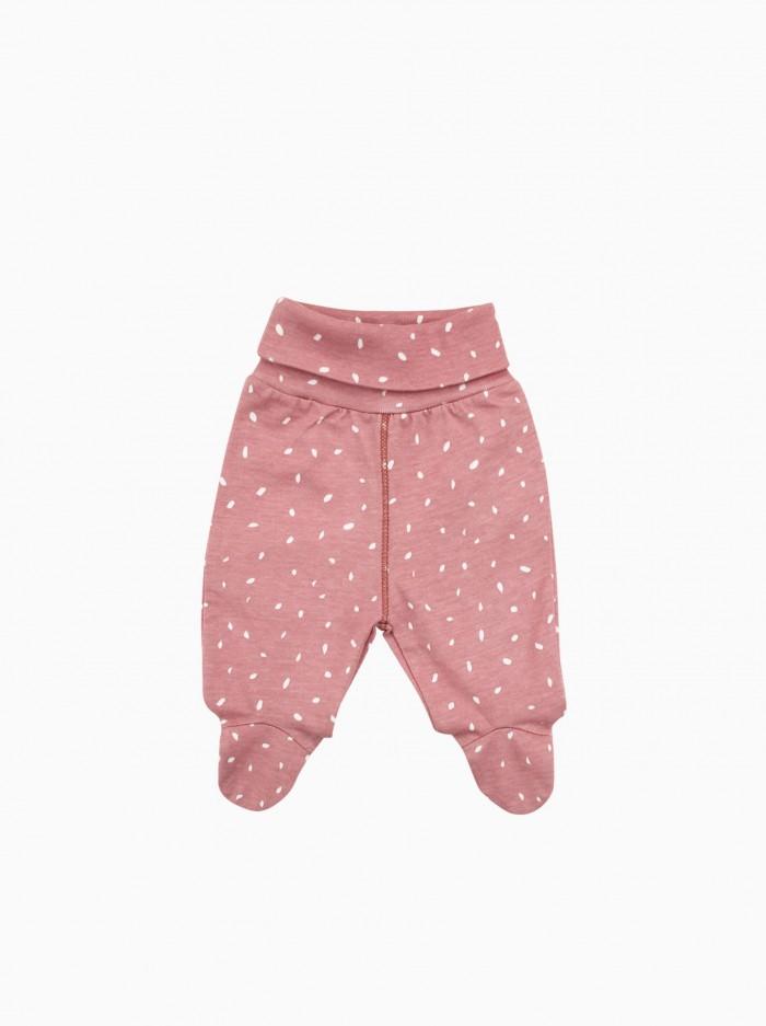 baby footed pants · pink dots