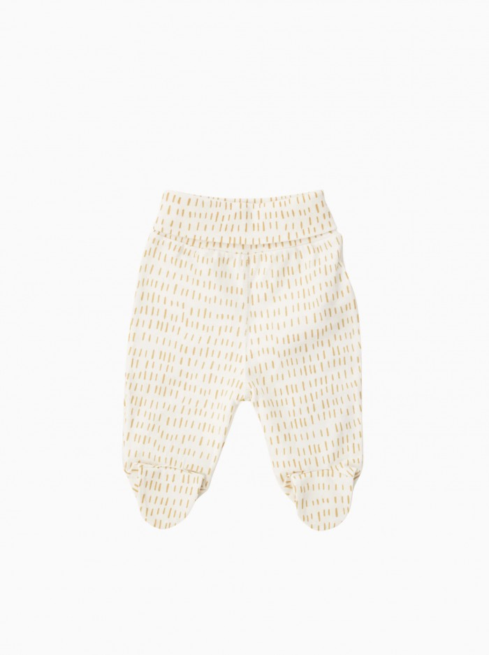 baby footed pants · mustard strokes