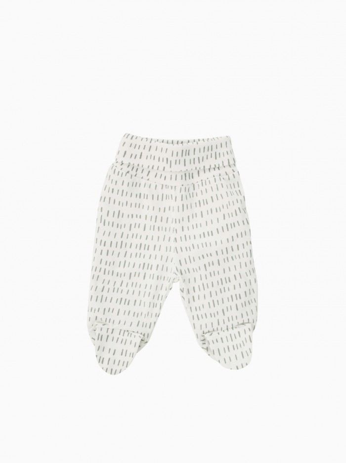 baby footed pants · grey strokes