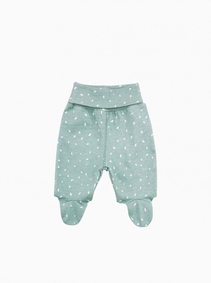 baby footed pants · minty dots