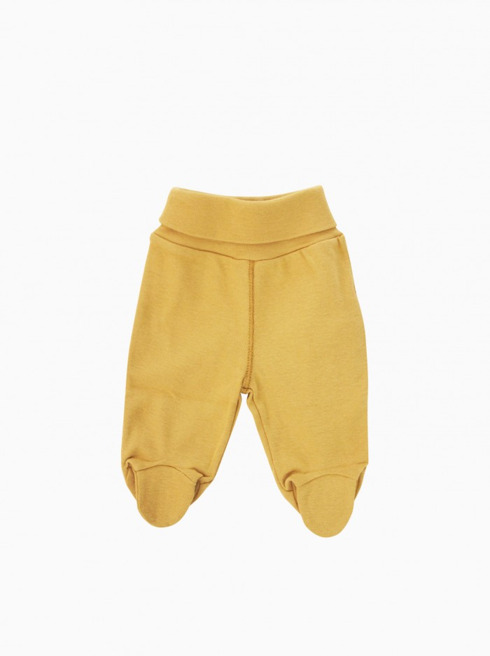 baby footed pants · mustard