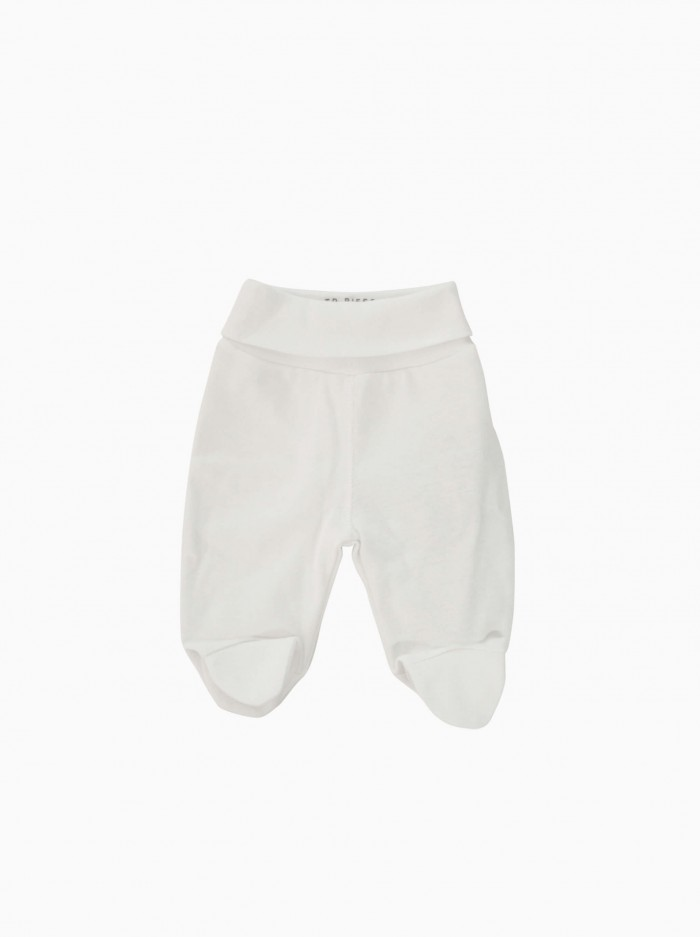 baby footed pants · white