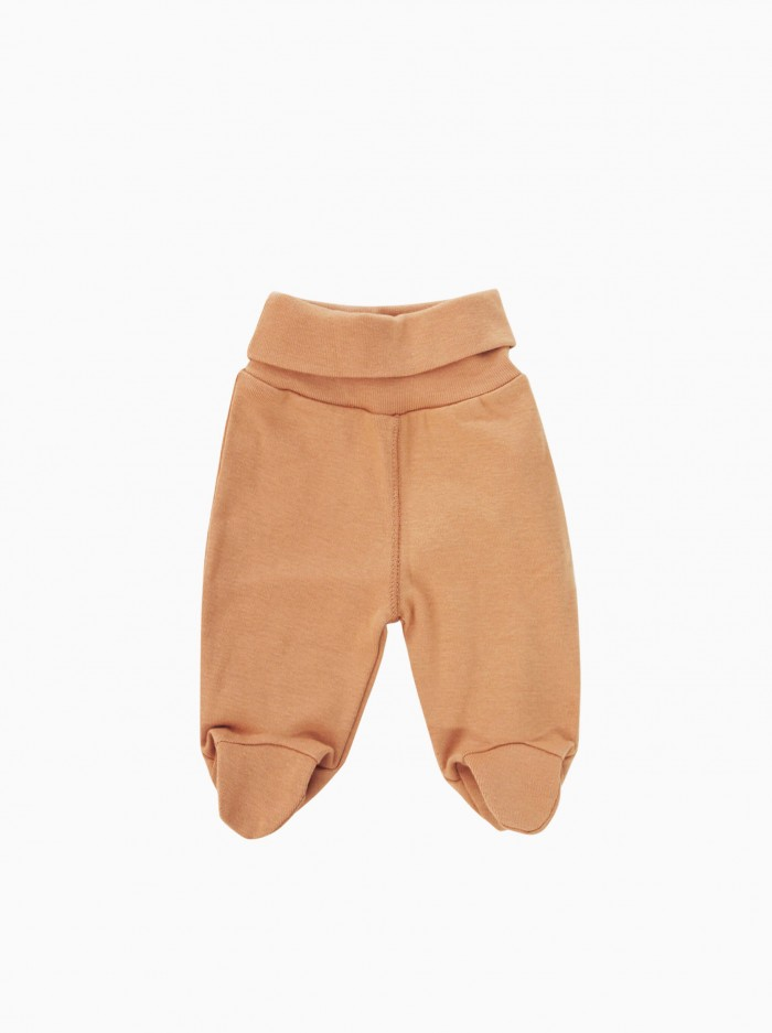 baby footed pants · terracotta