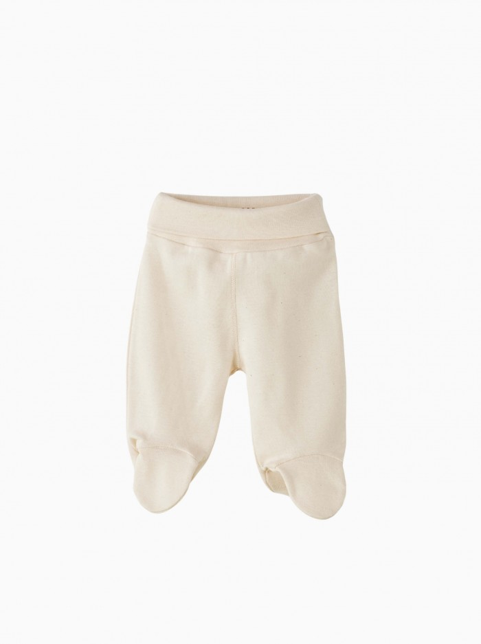 unbleached baby footed pants