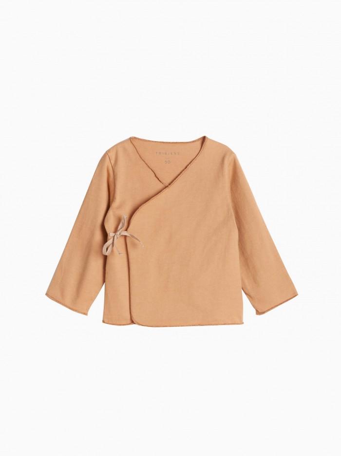 baby kimono shirt · terracotta