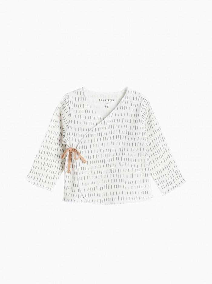 baby kimono shirt · grey strokes
