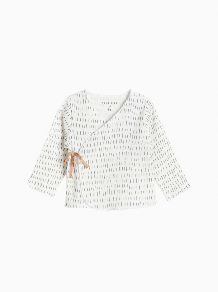 camiseta cruzada bebé · strokes gris