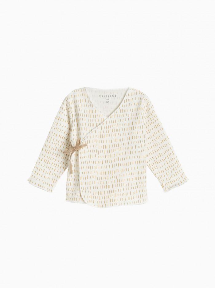 baby kimono shirt · mustard strokes