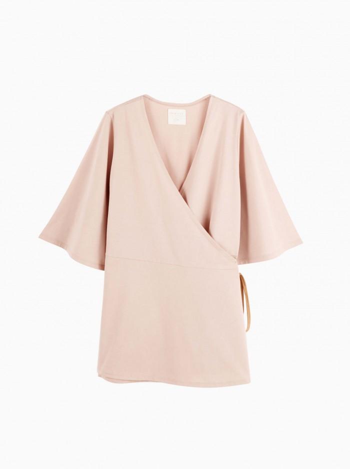 mum kimono top · misty rose