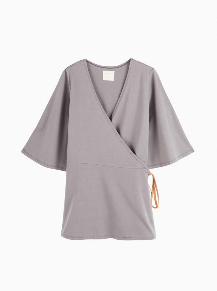 mum kimono top · grey